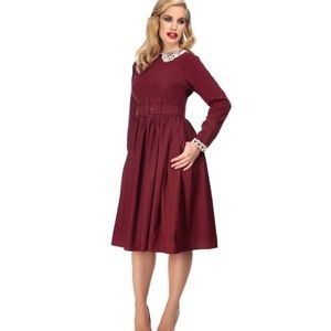 NWT Collectif Vintage Trudy Crepe Swing Dress